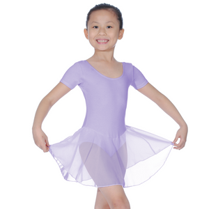 ROCH VALLEY REBECCA COTTON SHORT SLEEVE SKIRTED LEOTARD