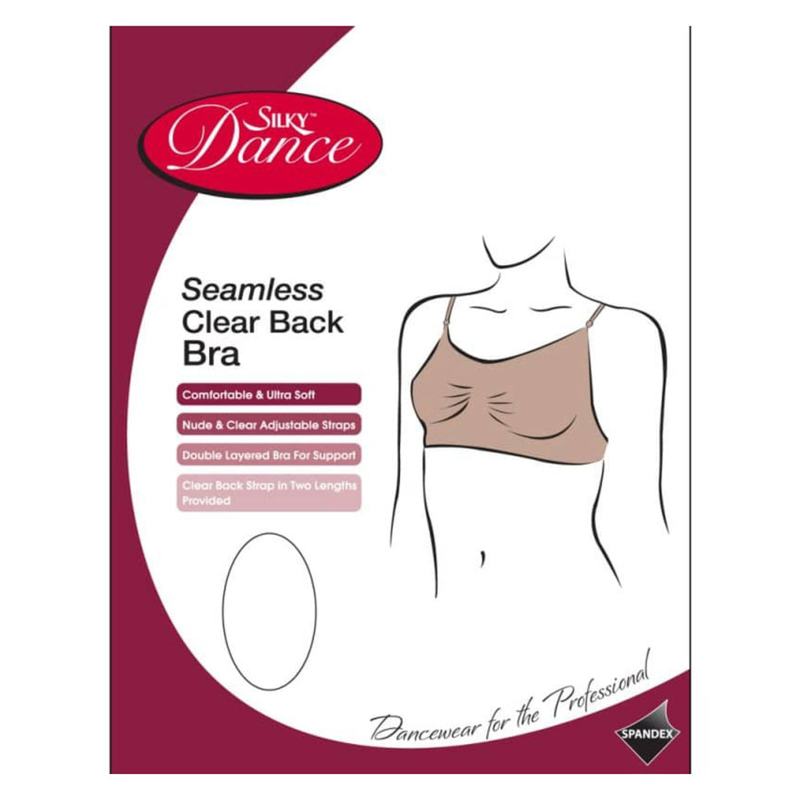 'SILKY' BRAND SEAMLESS CLEAR BACK BRA