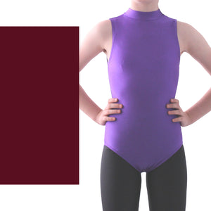 SHARON - SLEEVELESS POLO NECK LEOTARD - BOLD COLOURS