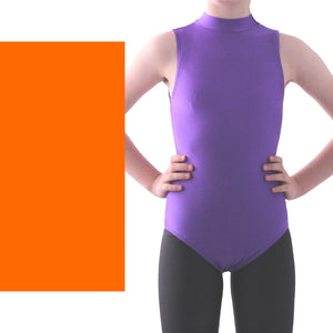 SHARON - SLEEVELESS POLO NECK LEOTARD - NEON COLOURS