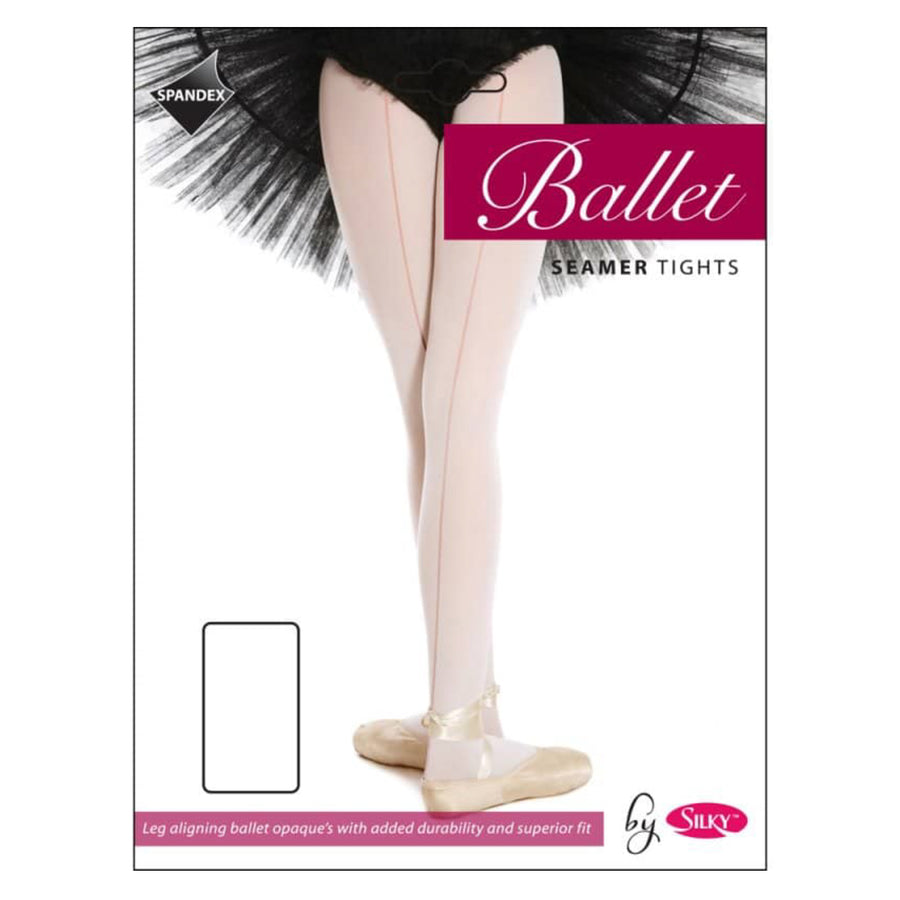 'SILKY' BRAND 60 DENIER SEAMED BALLET DANCE TIGHTS