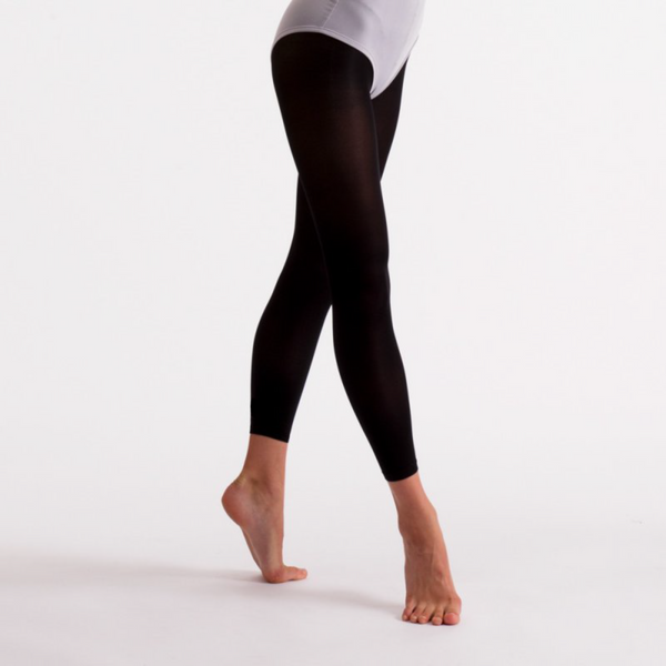 'SILKY' BRAND 40 DENIER BLACK ESSENTIAL FOOTLESS BALLET DANCE TIGHTS