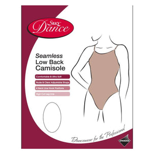 'SILKY' BRAND SEAMLESS LOW BACK CAMISOLE LEOTARD