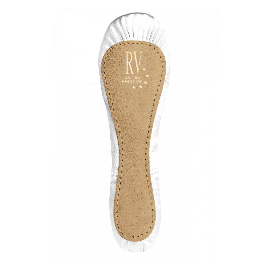 ROCH VALLEY PREMIUM WHITE SATIN FULL SOLE BALLET SHOES