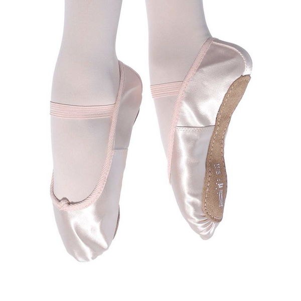 ROCH VALLEY PREMIUM PINK SATIN FULL SOLE BALLET SHOES