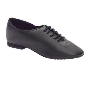 TAPPERS AND POINTERS BLACK FULL RUBBER SOLE JAZZ SHOES - Click Dancewear