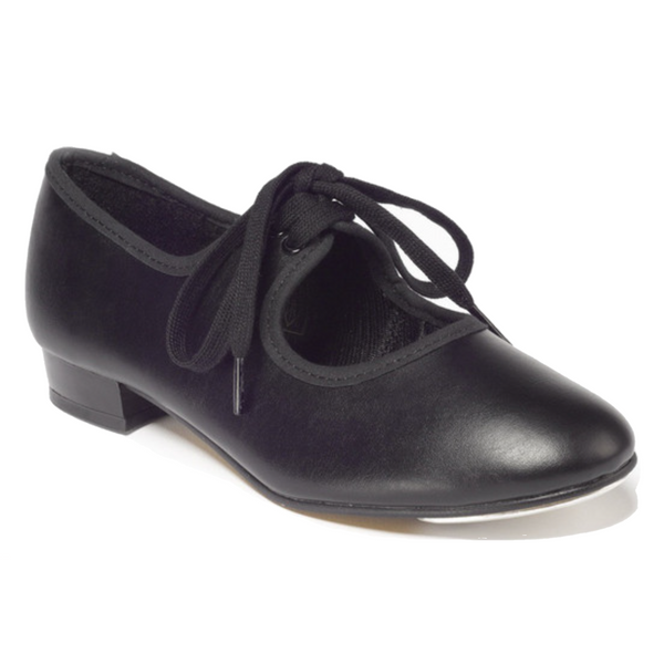 TAPPERS & POINTERS BLACK PU LOW HEEL TAP DANCE SHOES