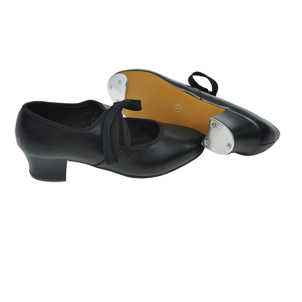 TAPPERS & POINTERS TTP PTC/P CUBAN TAP SHOES WITH TOE & HEEL TAPS