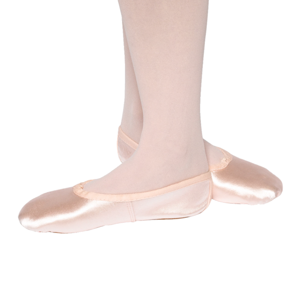 TAPPERS AND POINTERS WIDE FIT PINK SATIN BALLET SHOES - Click Dancewear