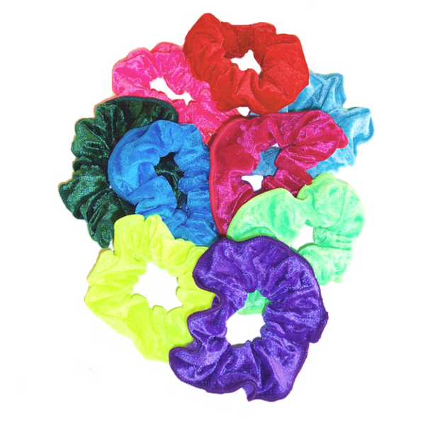 CRUSHED VELOUR HAIR SCRUNCHIES