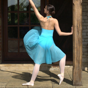 AMELIA - LONGER LENGTH TAPERED PLAIN MESH SKIRT Dancewear Click Dancewear