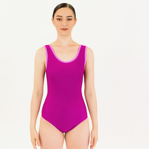 ATHENA - RECYCLED SLEEVELESS PLAIN FRONT LEOTARD Dancewear Click Dancewear
