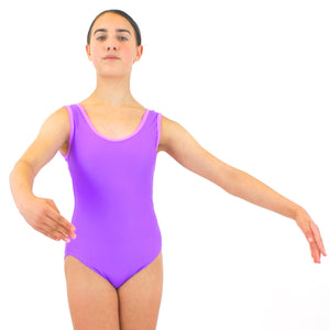 ATHENA - RECYCLED SLEEVELESS PLAIN FRONT LEOTARD Dancewear Click Dancewear Jam / Mauve 00 (Age 2-4)