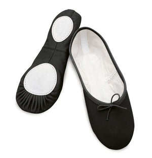 BASIC BLACK LEATHER SPLIT SOLE BALLET SHOES Dance Shoes Dancers World