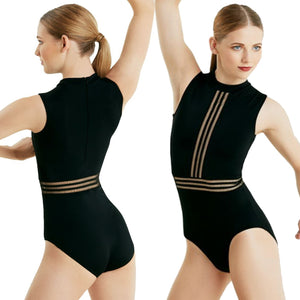 BLACK SHADOW STRIPE LEOTARD Dancewear Balera