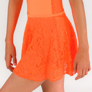CALLIE - FLUORESCENT LACE SHORT CIRCULAR SKIRT Dancewear Click Dancewear