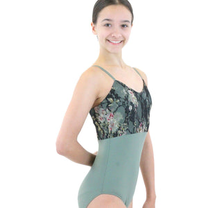 CAMILLE - LACE PANEL CAMISOLE LEOTARD Dancewear Click Dancewear