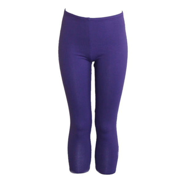 CCAPRI - PURPLE COTTON LYCRA CAPRI LEGGINGS/TIGHTS Dancewear Arabesque