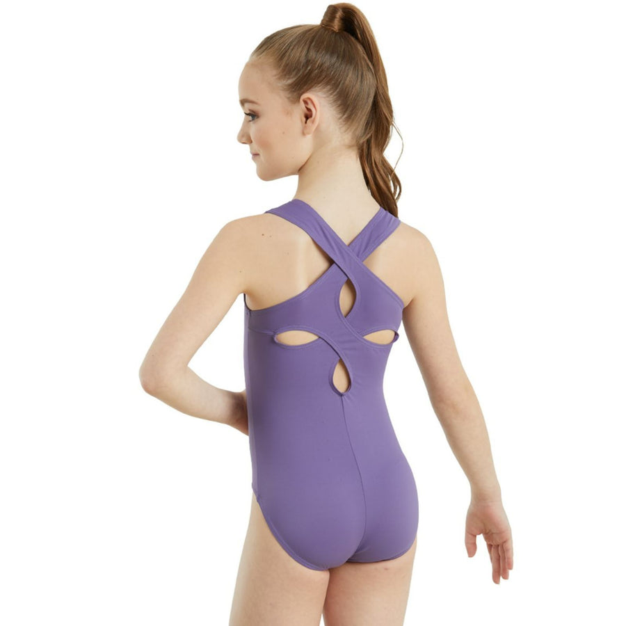 CLOVER CUTOUT TANK LEOTARD Dancewear Balera Pinkberry Intermediate Child