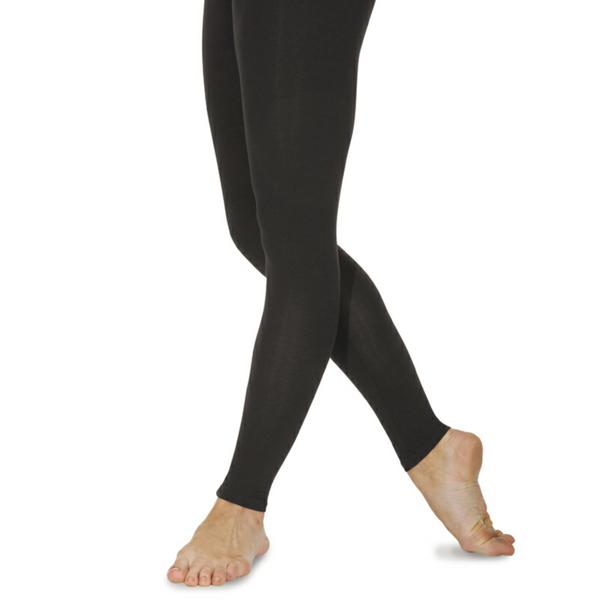BLACK COTTON FOOTLESS TIGHTS - MUSICAL THEATRE UNIFORM