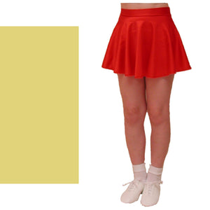 ECS - PALE GOLD SHORT LENGTH CIRCULAR DANCE SKIRT Dancewear Dancers World