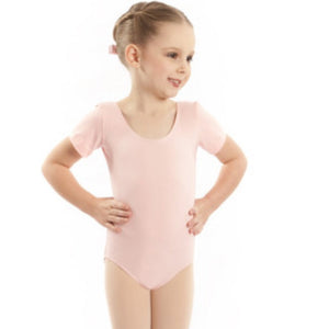 EMILY - SHORT SLEEVE COTTON LEOTARD