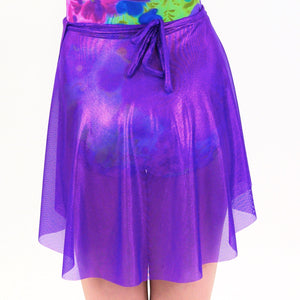 FIZZ - PURPLE SPIRIT NET WRAP SKIRT Dancewear Click Dancewear