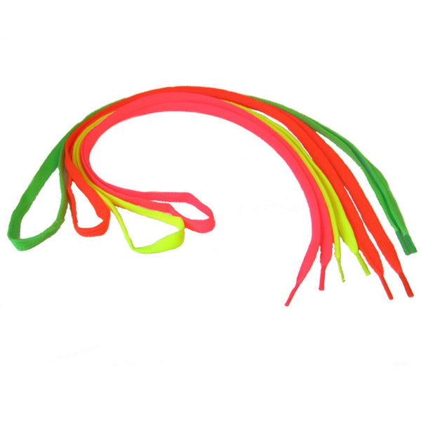 "FLAT JAZZ SNEAKER FLUORESCENT NEON SHOE LACES - 37"" Shoe Laces Dancers World"