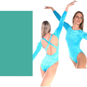 FRANCINE - VERT GREEN LOW BACK X BACK LEOTARD - SIZE 5 (DRESS SIZE 12-14) Dancewear Arabesque