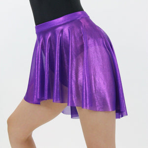 GLEAM - PURPLE SPIRIT NET SHORTER TAPERED SKIRT Dancewear Click Dancewear