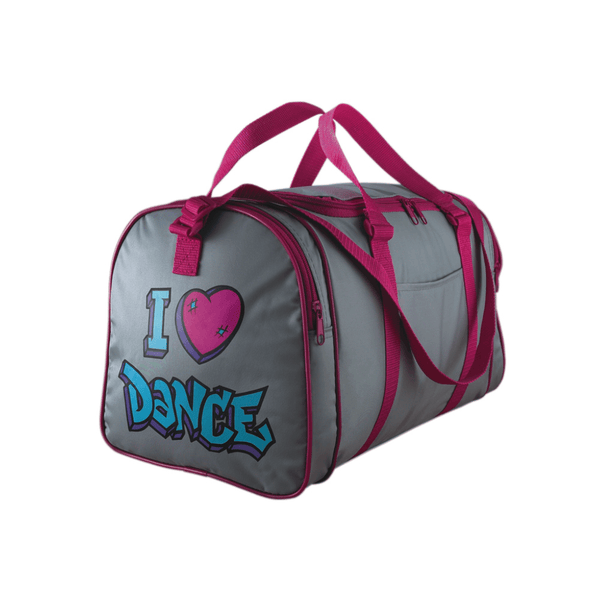 GREY I LOVE DANCE HOLDALL Bags & Holdalls Gifted Dancer