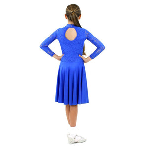 HAZEL - LONG SLEEVE LACE BALLROOM PRACTICE DRESS Dancewear Click Dancewear