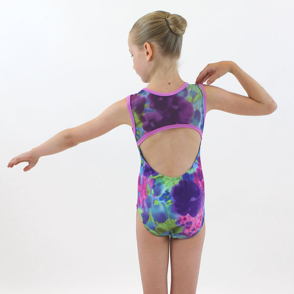 IRIS - MESH PANEL LEOTARD Dancewear Click Dancewear