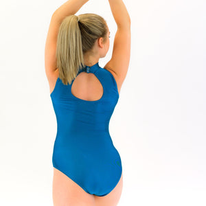 KENDRA - PANELLED POLO NECK LEOTARD Dancewear Click Dancewear