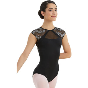 LACE CAP SLEEVE LEOTARD Dancewear Balera Black Intermediate Child