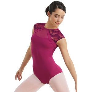 LACE CAP SLEEVE LEOTARD Dancewear Balera Mulberry Intermediate Child