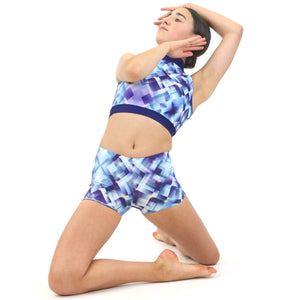 NINA - SLEEVELESS POLO NECK CROP TOP Dancewear Click Dancewear