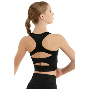 RACER BACK HIGH NECK SHIMMER CROP TOP Dancewear Balera