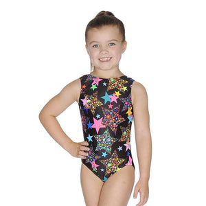 ROCH VALLEY - LA MULTI STAR GYMNASTIC LEOTARD....TEXT Gymnastics Roch Valley