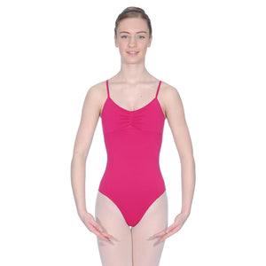 ROCH VALLEY MARGOT MICROFIBRE CAMISOLE LEOTARD WITH A PLEATED FRONT Dancewear Roch Valley