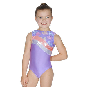 ROCH VALLEY - PARIS LILAC GYMNASTIC LEOTARD....TEXT Gymnastics Roch Valley