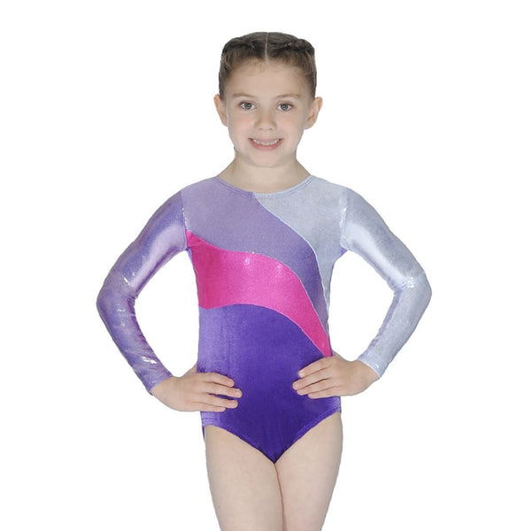 ROCH VALLEY - ROME LONG SLEEVE GYMNASTIC LEOTARD....TEXT Gymnastics Roch Valley