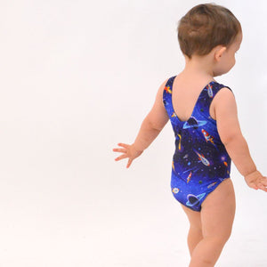 ROCKET PRINT - BABY SIZES - PLAIN FRONT LEOTARD Dancewear Click Dancewear