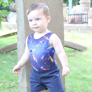ROCKET PRINT - BABY SIZES - PLAIN FRONT LEOTARD Dancewear Dancers World