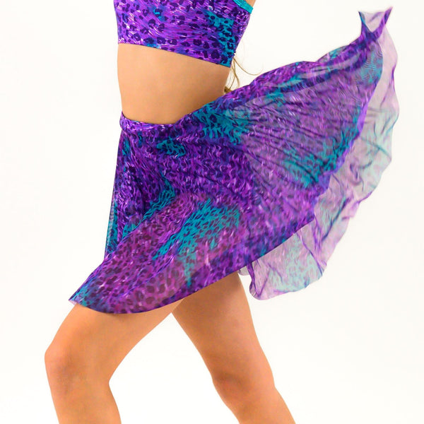 SAMIRA - LONGER LENGTH TAPERED MESH SKIRT Dancewear Click Dancewear