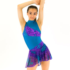 SASKIA - SHORTER LENGTH TAPERED MESH SKIRT Dancewear Click Dancewear