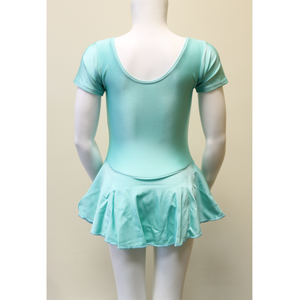 SOPHIE - MINT SHORT SLEEVE SKIRTED LEOTARD
