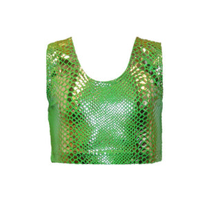 SUZI - SNAKE PRINT CROP TOP Dancewear Dancers World