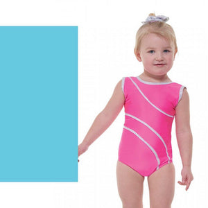 TAPPERS & POINTERS DEL/1 SLEEVELESS LEOTARD - AQUA SIZE 2 Dancewear Tappers and Pointers Aqua 2 (Age 9-10)