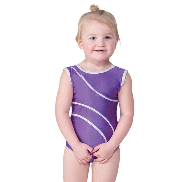 TAPPERS & POINTERS DEL/1 SLEEVELESS LEOTARD - PURPLE SIZE 1 Dancewear Tappers and Pointers Purple 1 (Age 6-8)
